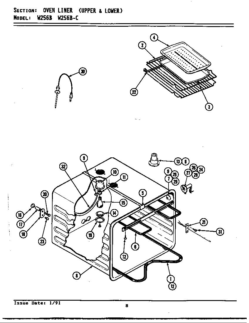 hight resolution of jenn air w256b oven w256 w256 diagram