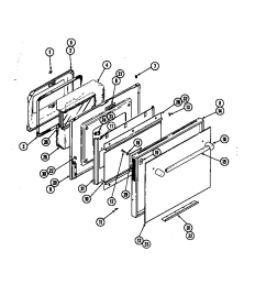 jenn air w256b door w256 w256 diagram [ 848 x 1100 Pixel ]