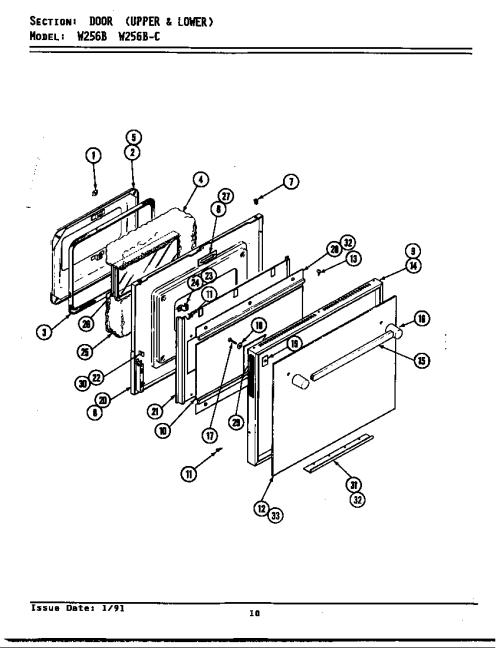 small resolution of jenn air w256b door w256 w256 diagram