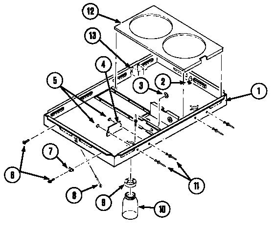 BURNER BOX Diagram & Parts List for Model c201 Jenn-air
