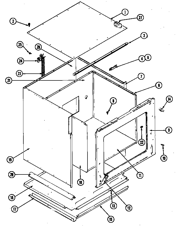 BODY-LOWER Diagram & Parts List for Model wm227w Jenn-air