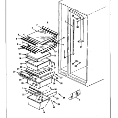 Jenn Air Refrigerator Parts Diagram 3 Phase Electric Heater Wiring Shelves And Accessories List For Model