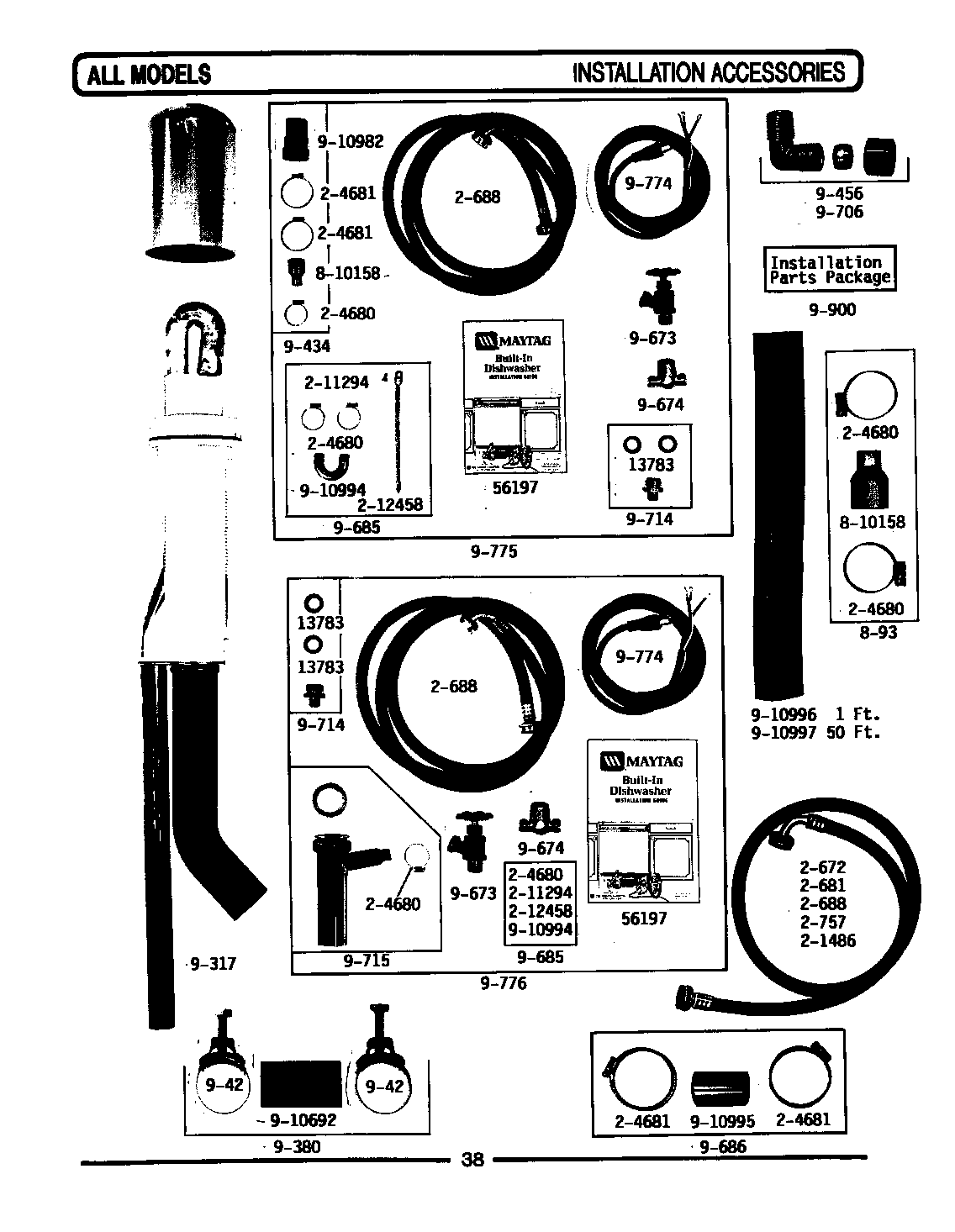 INSTALLATION ACCESSORIES Diagram & Parts List for Model