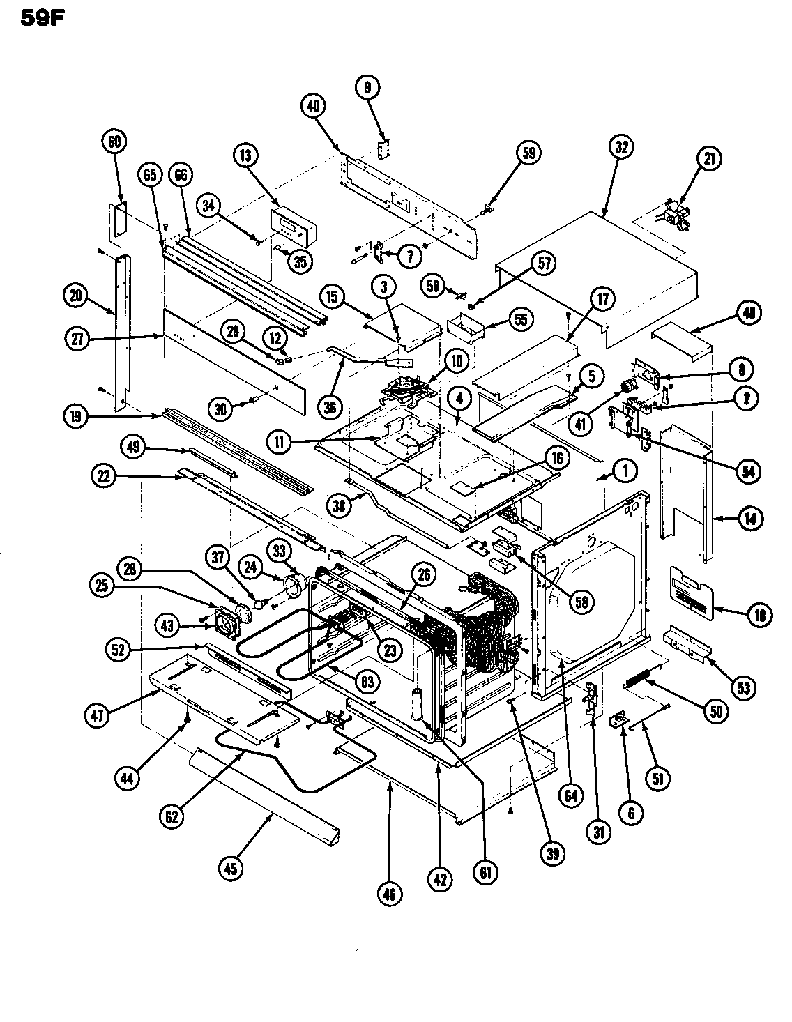 hight resolution of magic chef 59fn 5tvw body diagram