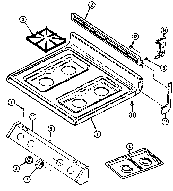 TOP ASSEMBLY Diagram & Parts List for Model 3468xra Magic