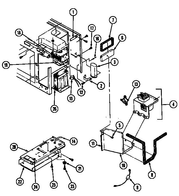 INTERNAL CONTROLS Diagram & Parts List for Model DM46H14BR