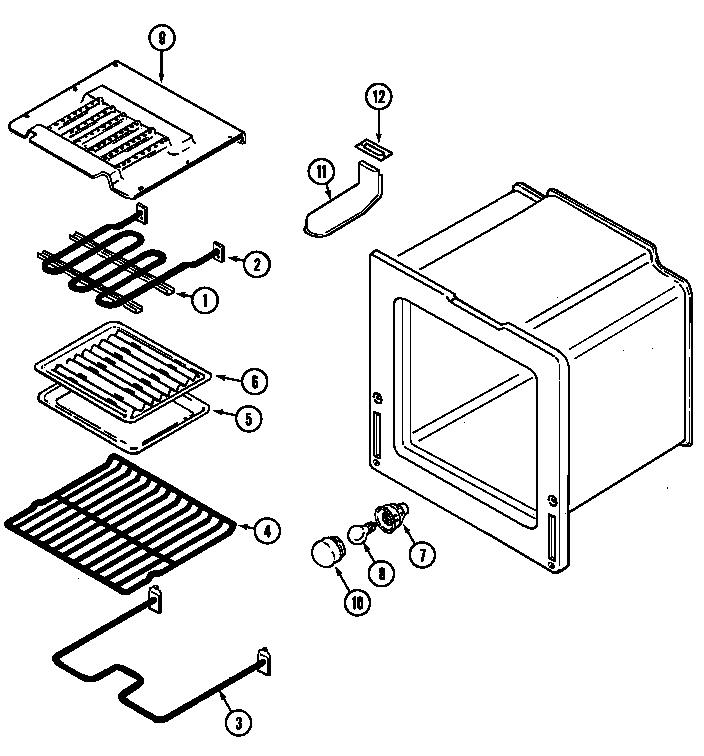OVEN Diagram & Parts List for Model 6898vvv Magic-chef