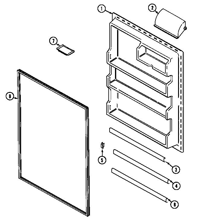 MAGIC CHEF Refrigerator Ice maker (ctf2125dra) (c