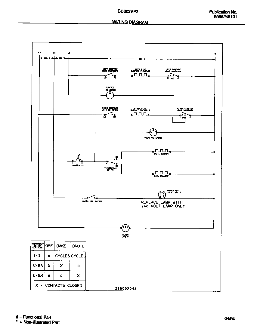 medium resolution of kelvinator model cd302vp3w02 free standing electric genuine parts ge refrigerator wiring circuit diagram kelvinator refrigerator wiring diagram