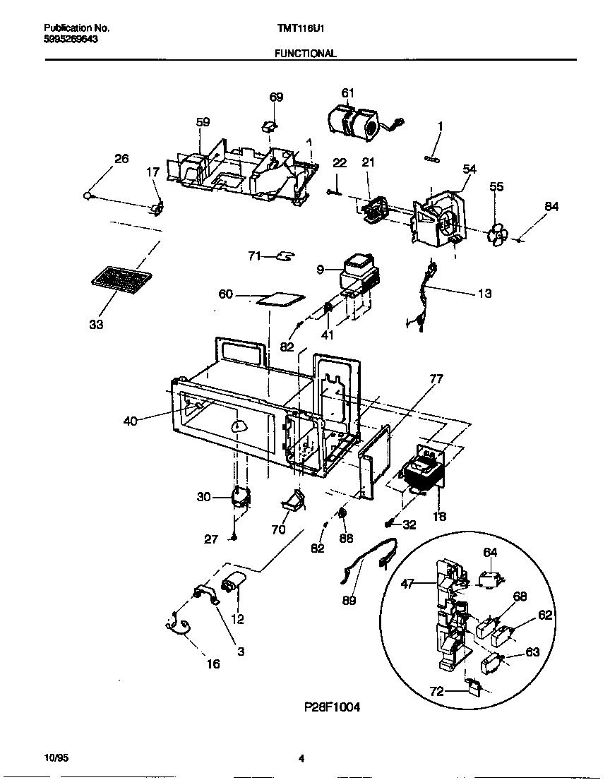 FUNCTIONAL Diagram & Parts List for Model tmt116u1w0
