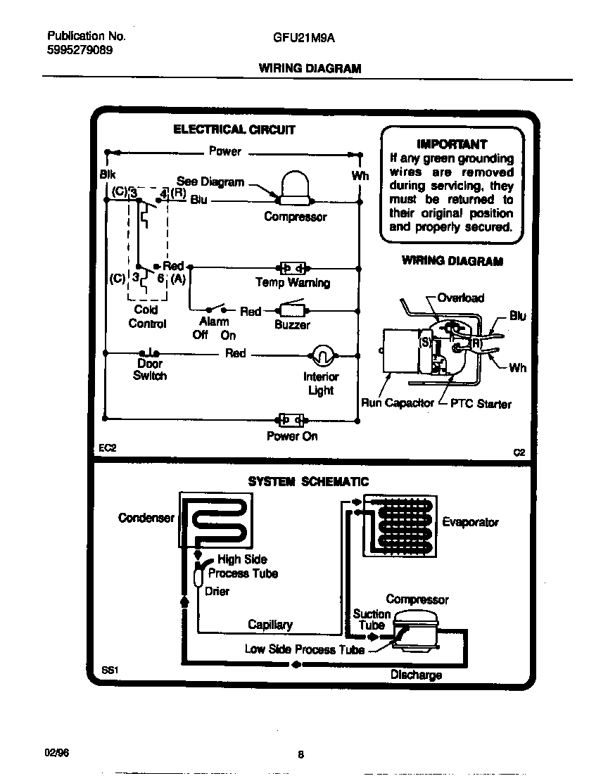 hight resolution of gibson model gfu21m9aw6 upright freezer genuine parts nor lake freezer wiring diagram gibson freezer wiring diagram