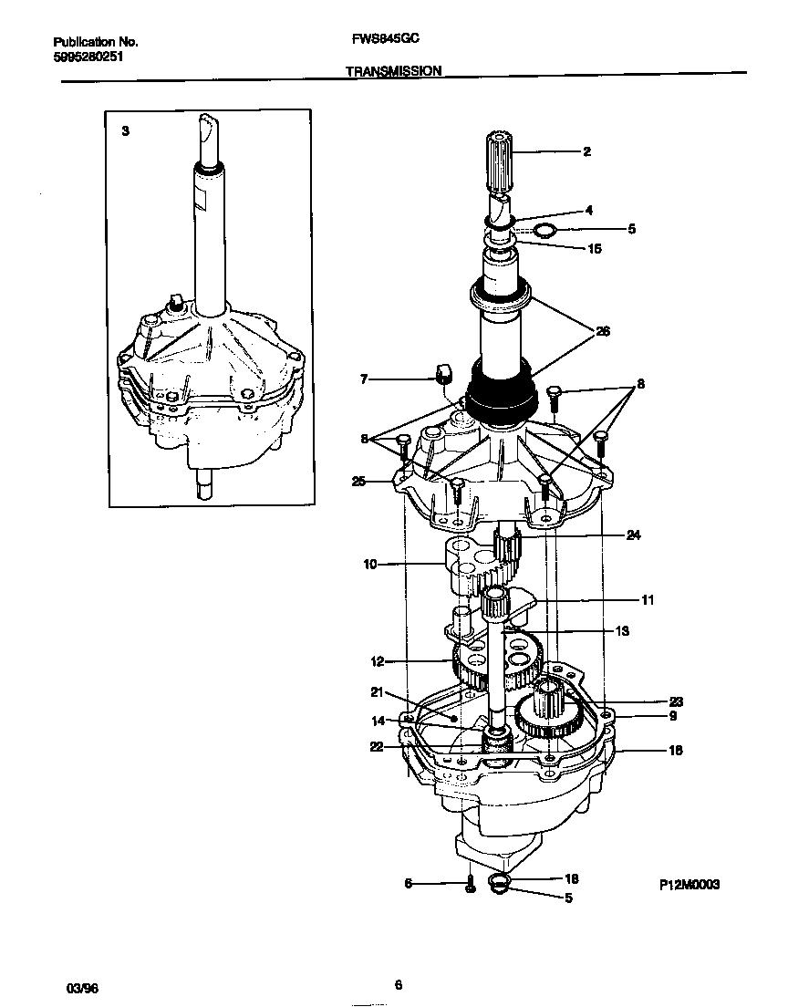 medium resolution of frigidaire frigidaire washer 5995280251 transmission parts