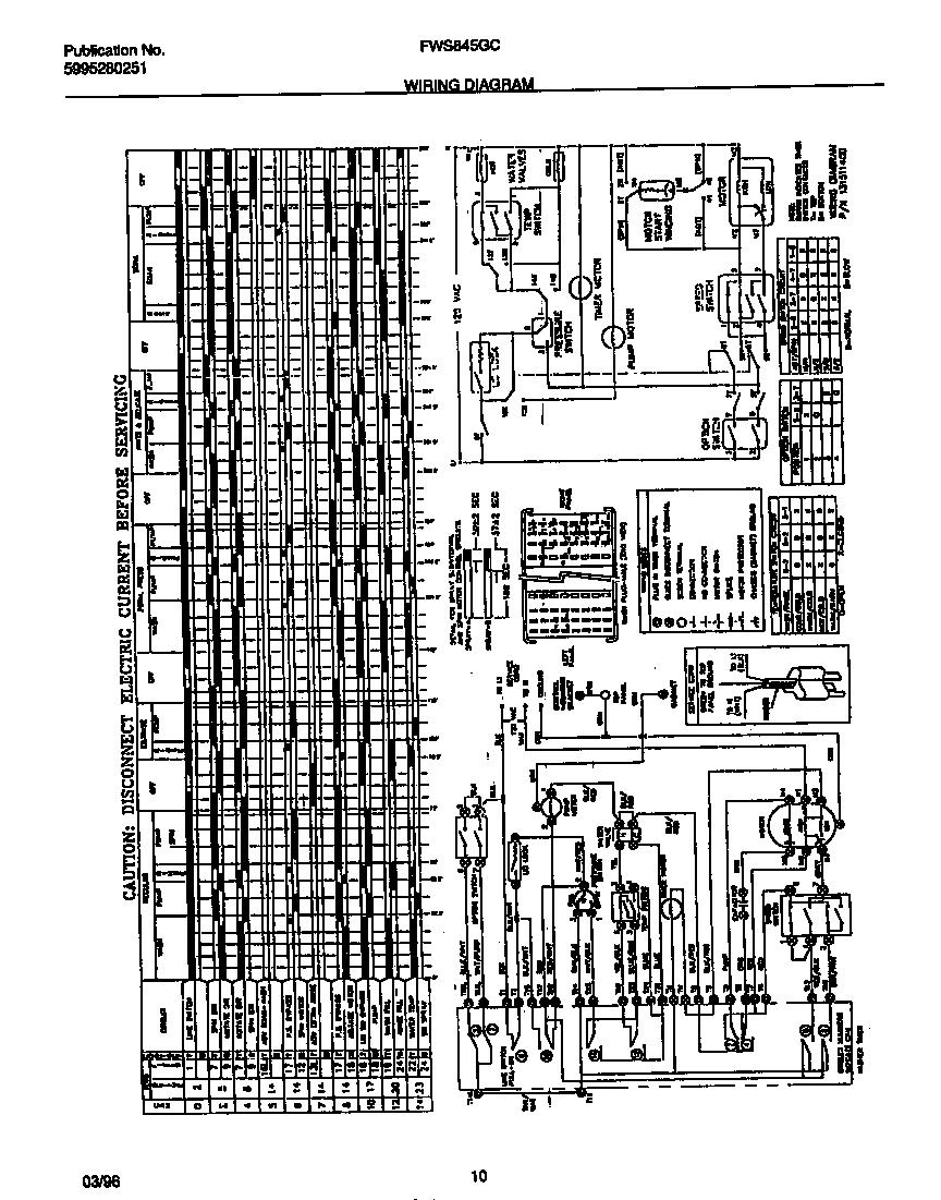 hight resolution of frigidaire frigidaire washer 5995280251 wiring diagram parts
