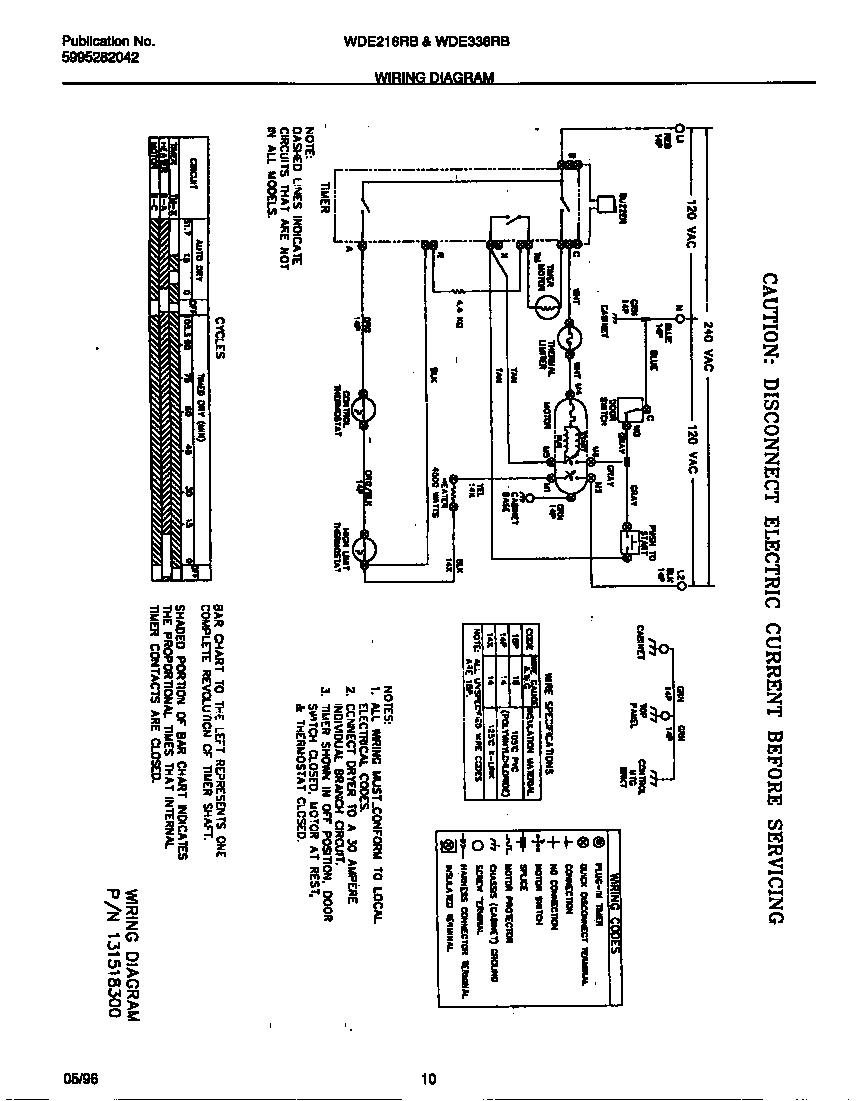 Wiring diagram for white westinghouse dryer