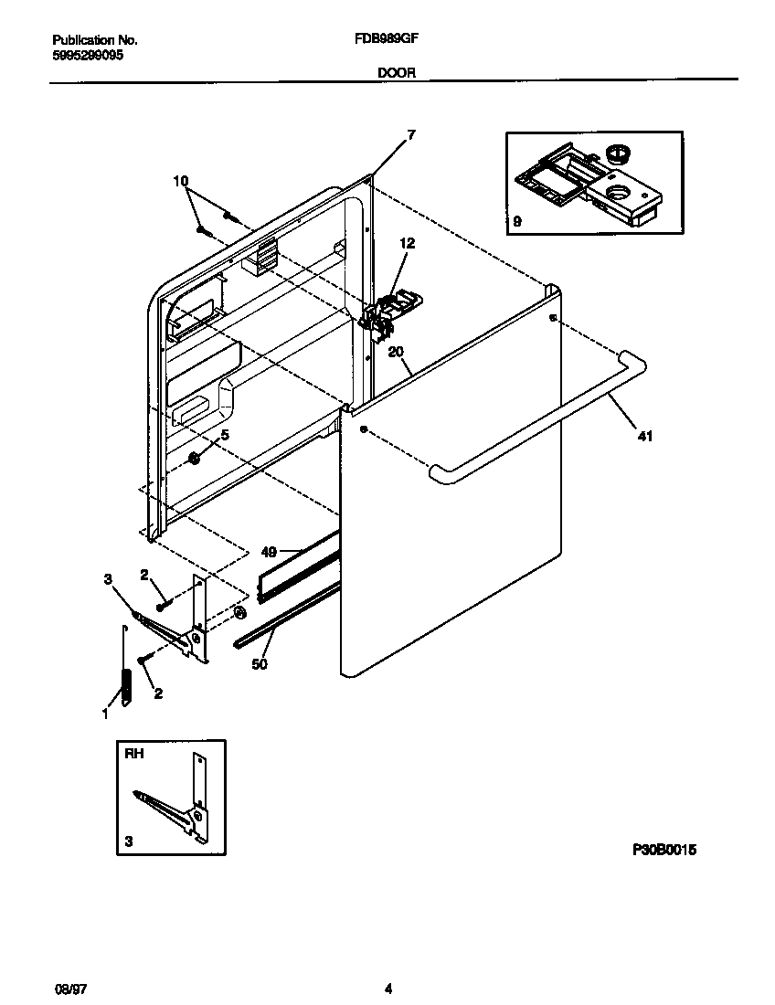 Frigidaire: Frigidaire Dishwasher Parts Diagram