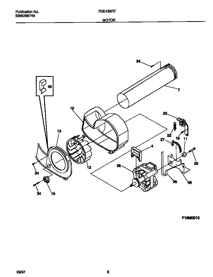 medium resolution of frigidaire fde436res1 motor diagram