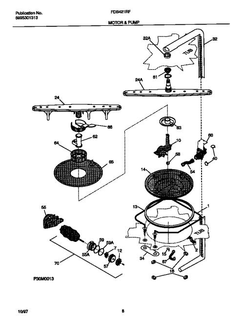 small resolution of frigidaire fdb421rfr3 motor pump diagram