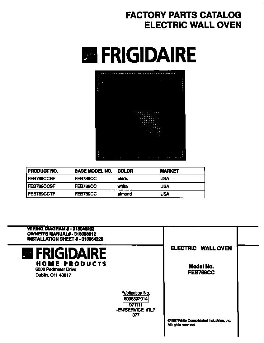 Frigidaire Dishwasher Wiring Diagram Parts Model Fdb989gfc0