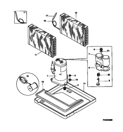 gibson model gac103g1a2 air conditioner heat pump outside unit genuine parts [ 848 x 1100 Pixel ]