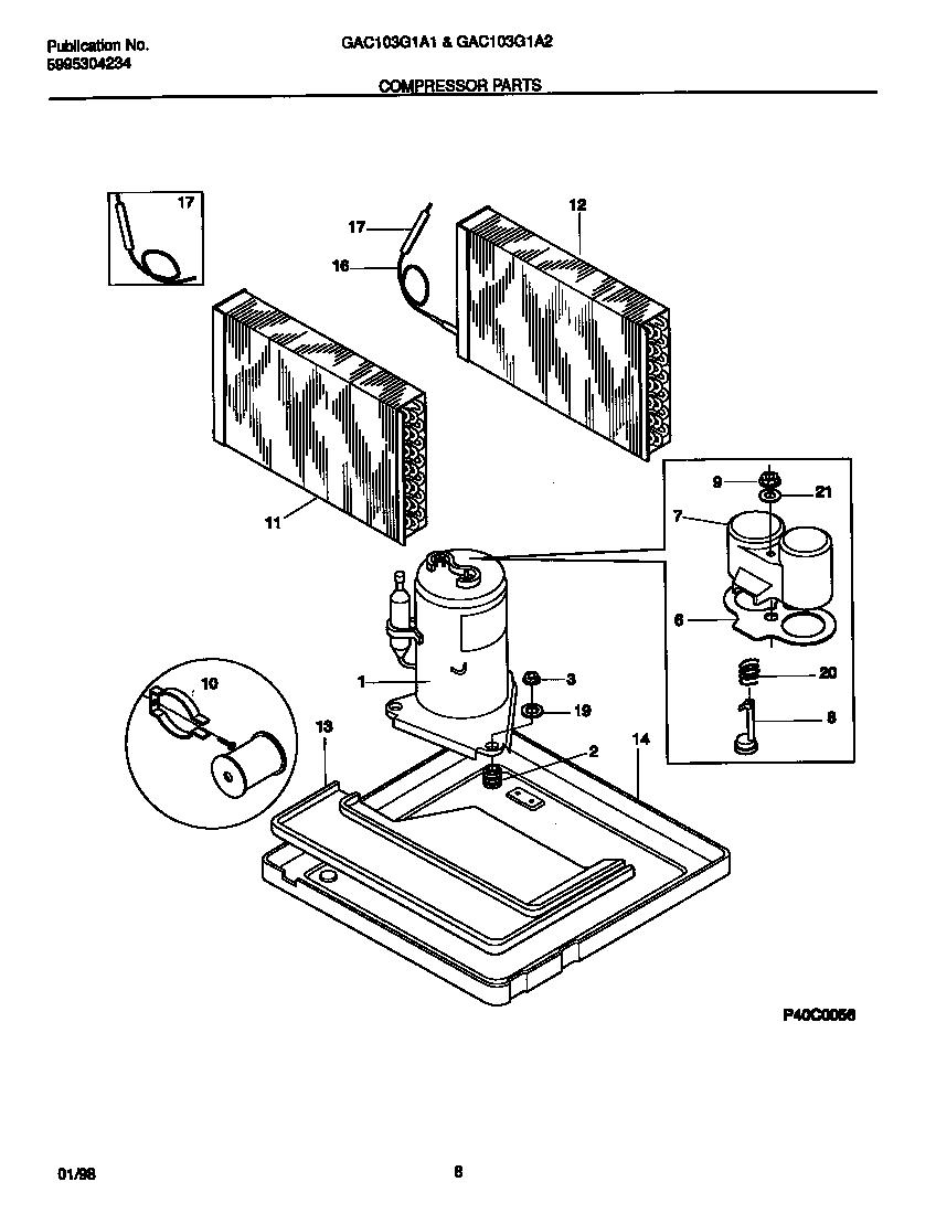 medium resolution of gibson model gac103g1a2 air conditioner heat pump outside unit genuine parts