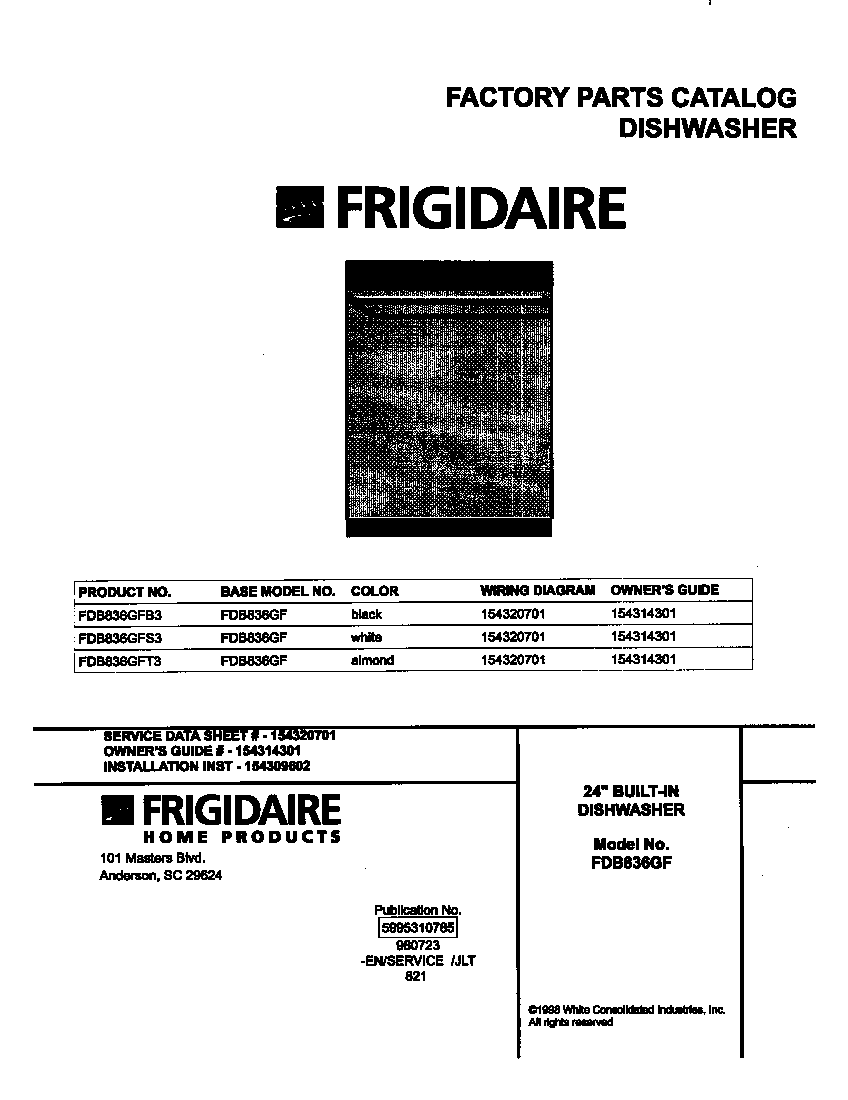 Frigidaire Dishwasher Wiring Diagram