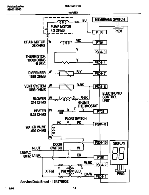 small resolution of universal multiflex frigidaire mdb122rfs0 wiring diagram diagram