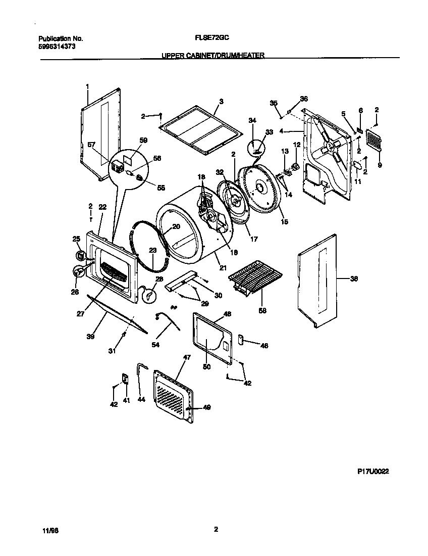 FRIGIDAIRE Laundry Center P17m0006 transmission Parts