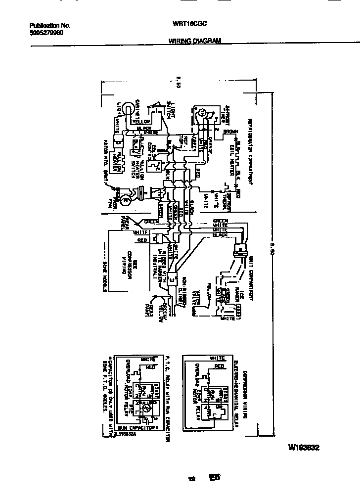 WHITE-WESTINGHOUSE Refrigerator Wiring diagram Parts