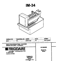 universal multiflex frigidaire im 34 cover diagram [ 848 x 1100 Pixel ]