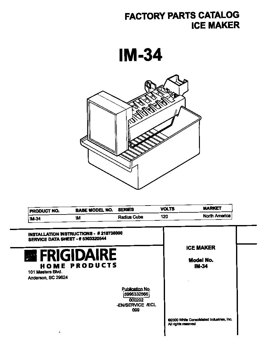 medium resolution of universal multiflex frigidaire im 34 cover diagram