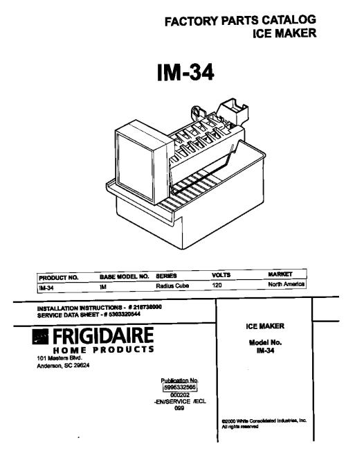 small resolution of universal multiflex frigidaire im 34 cover diagram
