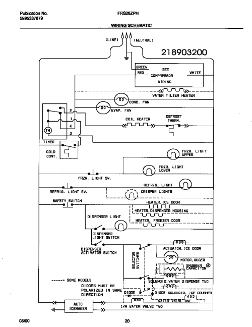 small resolution of frigidaire wiring diagram wiring diagram frigidaire wiring diagram refrigerator frigidaire wire diagram