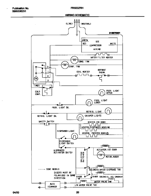 small resolution of looking for frigidaire model frs22zrhd0 side by side refrigerator frigidaire refrigerator wiring diagram