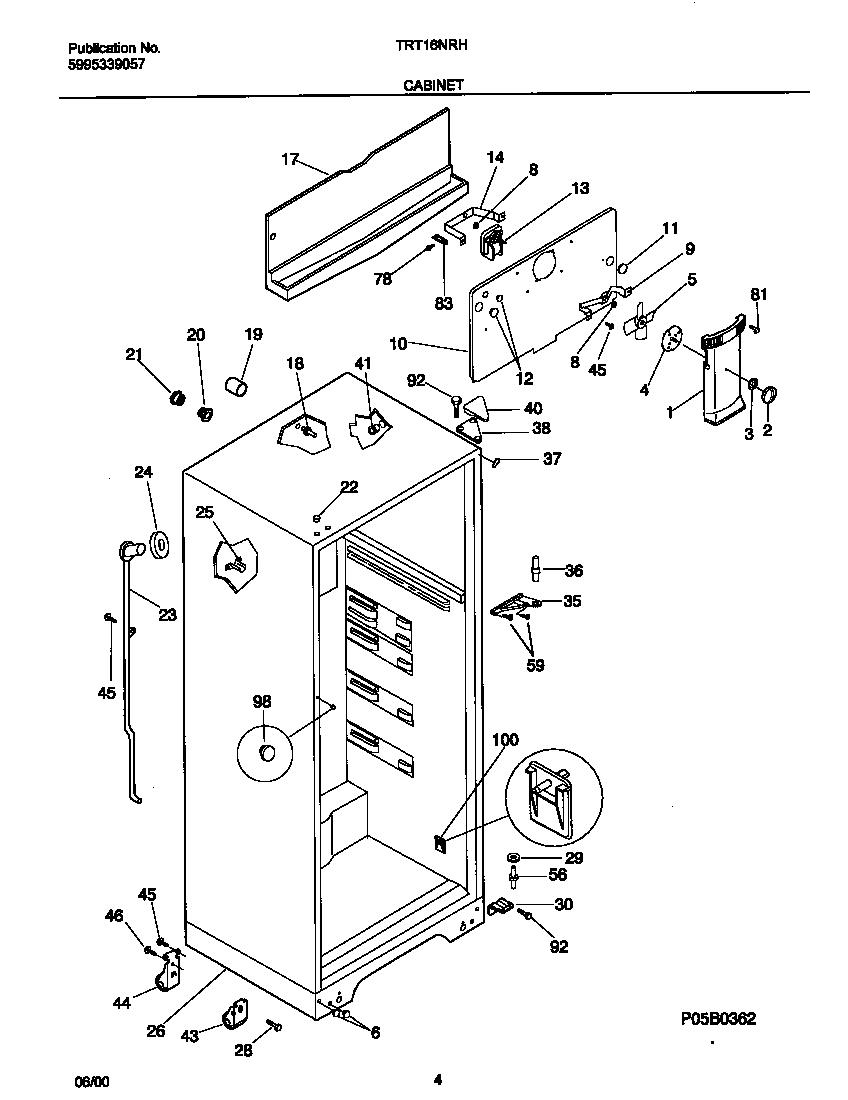 Tappan tappan refrigerator p5995339057 parts model trt16nrhw2 y2706273 00003 tappan tappan refrigerator p5995339057 parts model trt16nrhw2 at aneh co