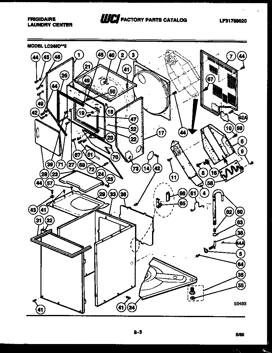 CABINET PARTS AND HEATER Diagram & Parts List for Model
