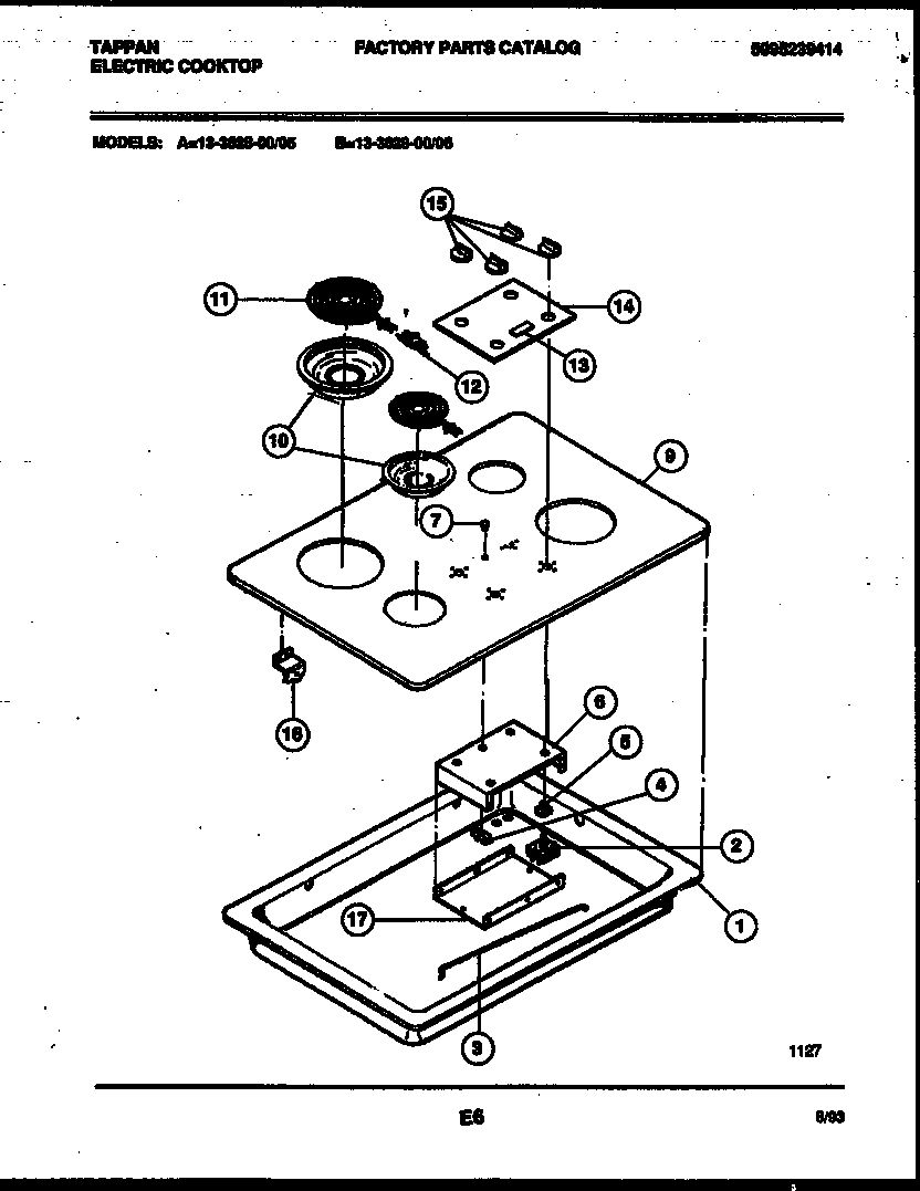 hight resolution of tappan 13 3628 00 06 electric smooth top diagram