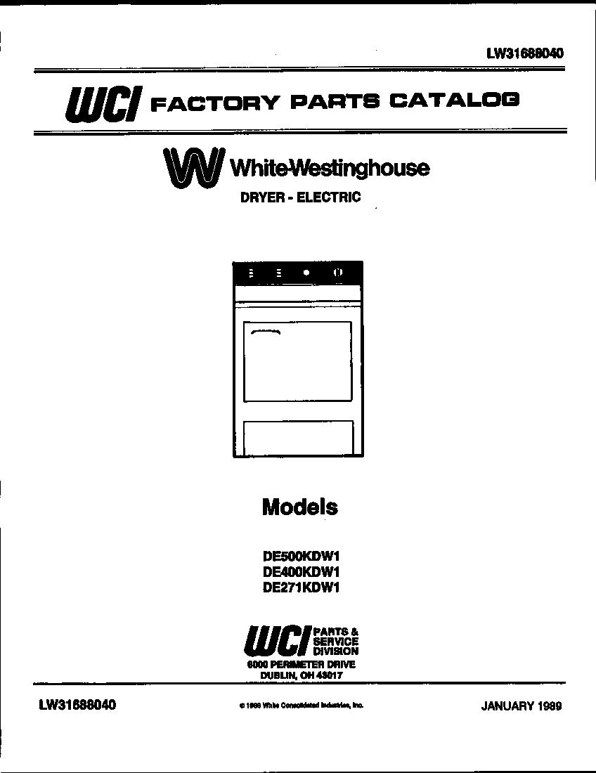 White Westinghouse Manual Dishwasher