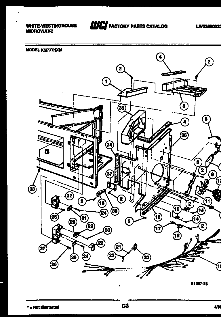 White-Westinghouse Microwave Body and installation Parts