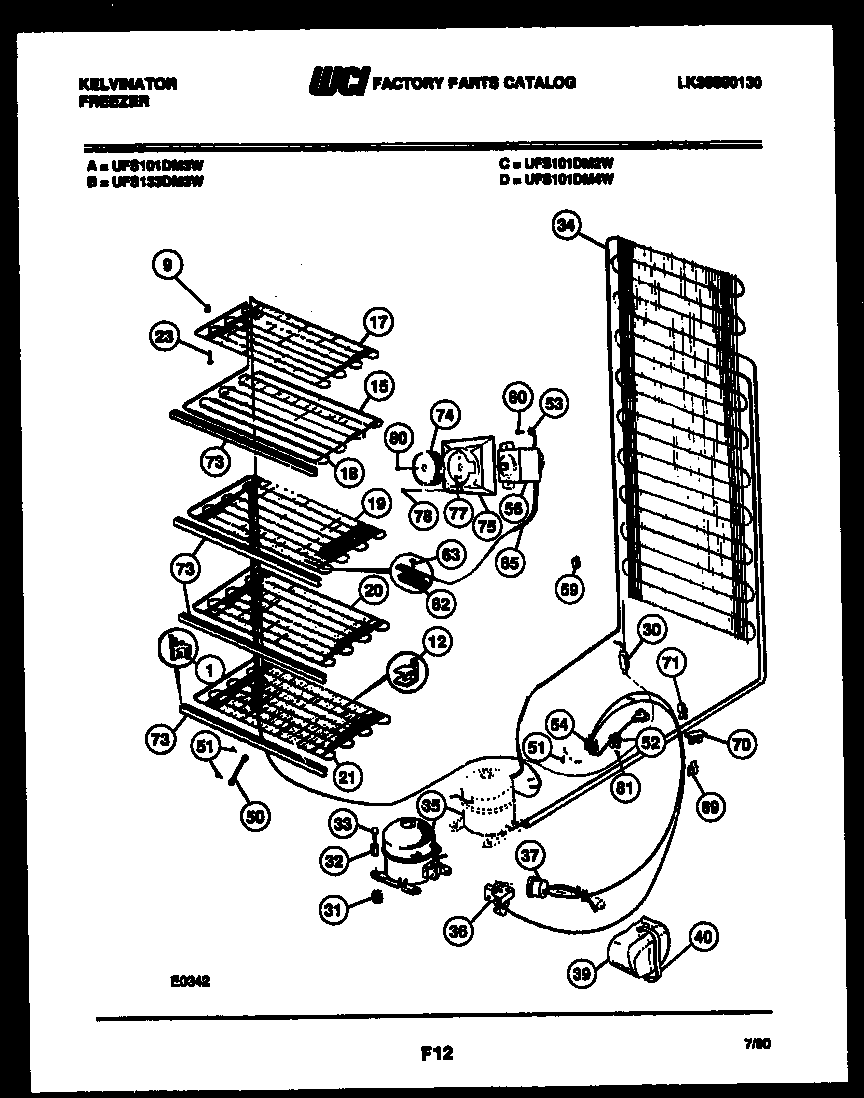SYSTEM AND ELECTRICAL PARTS Diagram & Parts List for Model
