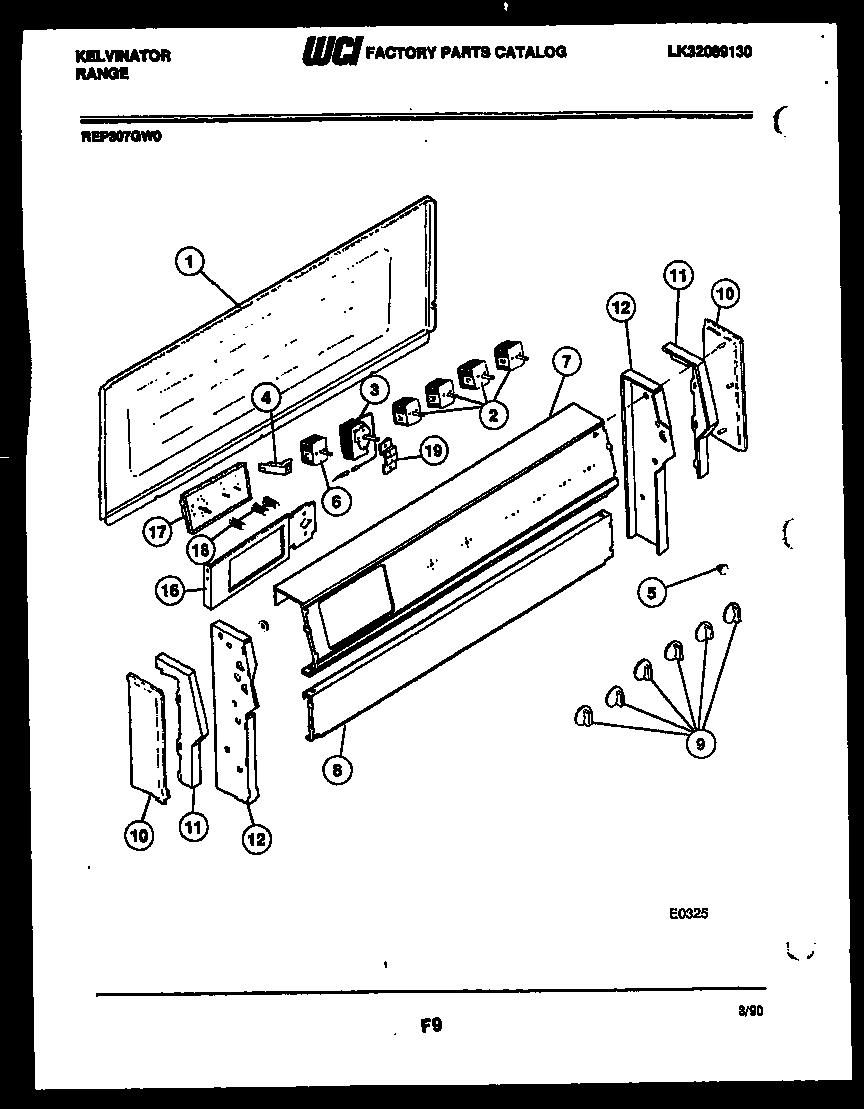 hight resolution of kelvinator rep307gd0 backguard parts diagram
