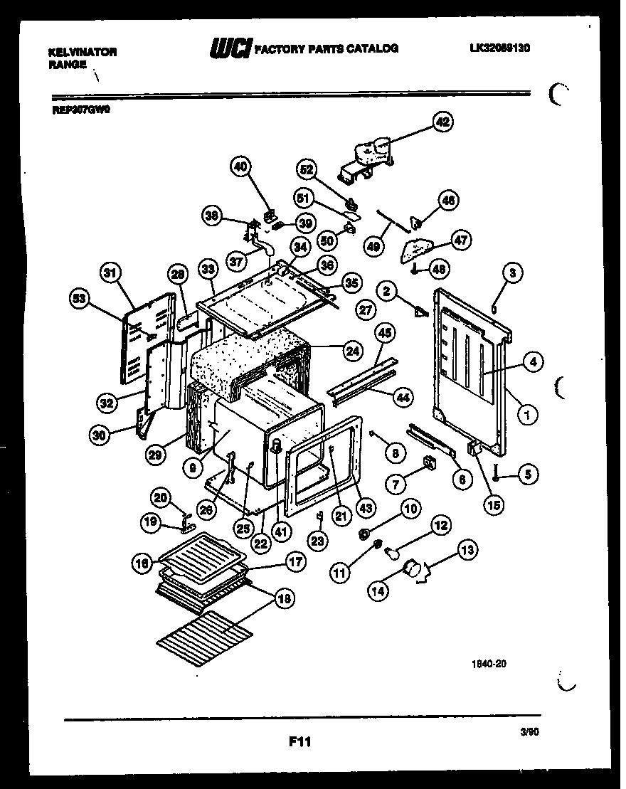 hight resolution of kelvinator rep307gd0 body parts diagram