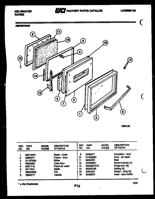 small resolution of kelvinator rep307gd0 door parts diagram