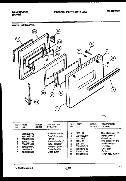 small resolution of kelvinator rer406gw3 door parts diagram