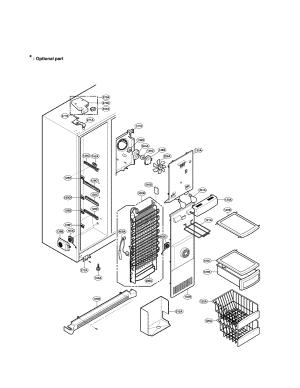 FREEZER COMPARTMENT Diagram & Parts List for Model