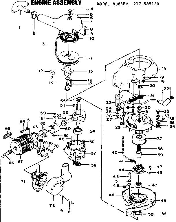 Craftsman model 217585120 boat motor gas genuine parts