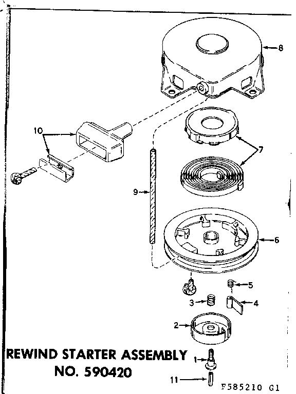 Craftsman model 217585210 boat motor gas genuine parts