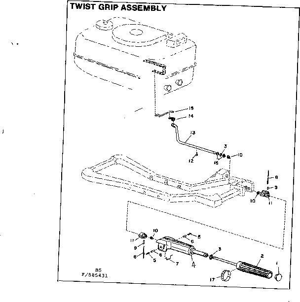 Craftsman model 217585431 boat motor gas genuine parts