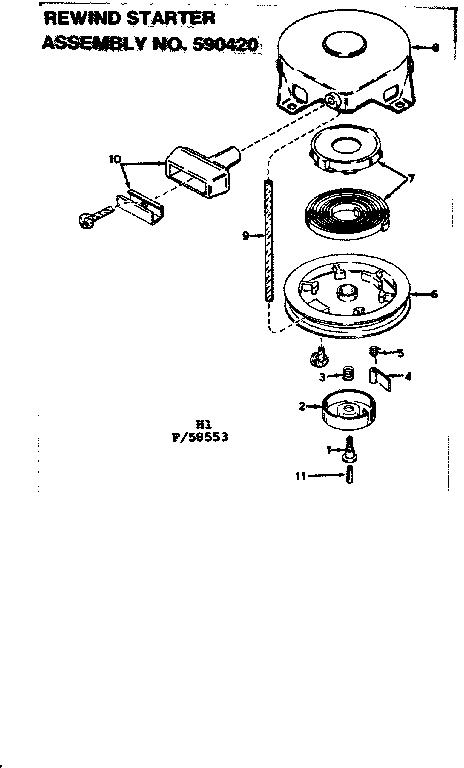 Eska model 14106B boat motor gas genuine parts