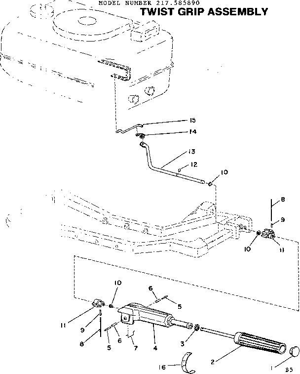 Craftsman model 217585890 boat motor gas genuine parts
