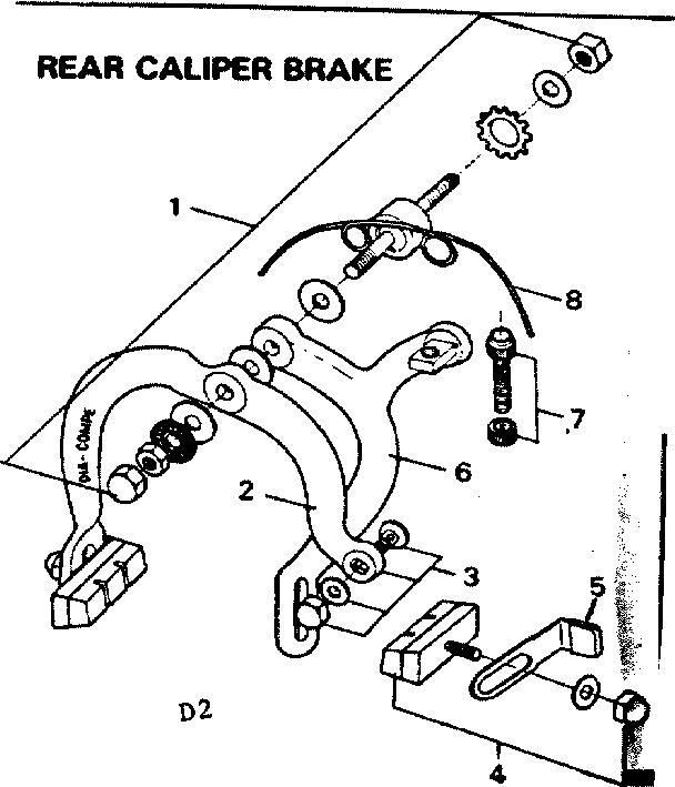 Sears model 502459971 bicycles genuine parts